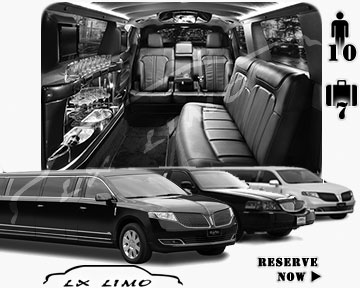 Stretch Limo airport shuttle in Memphis