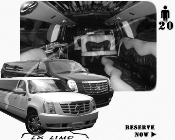 Cadillac Escalade 20 passenger SUV Limousine for rental in Memphis, TN