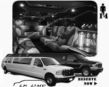 Lincoln Excursion SUV Limo for hire in Memphis, TN